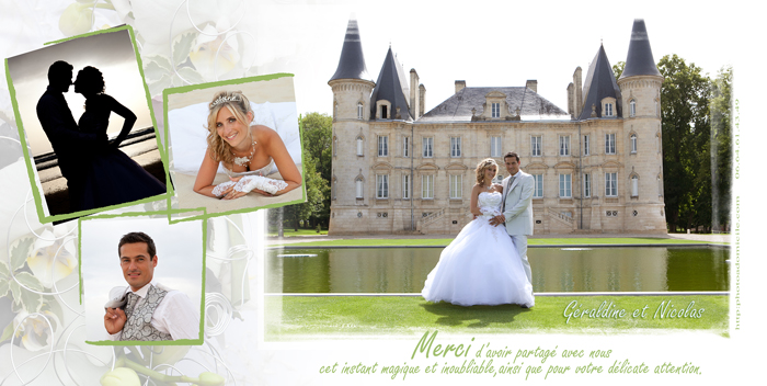 cartes de remerciement de mariage photographe bordeaux agnes sanz. Black Bedroom Furniture Sets. Home Design Ideas